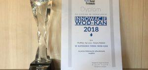"""2018 październik – Nagroda dla Proffico """"Innowacje Wod-Kan 2018"""""""