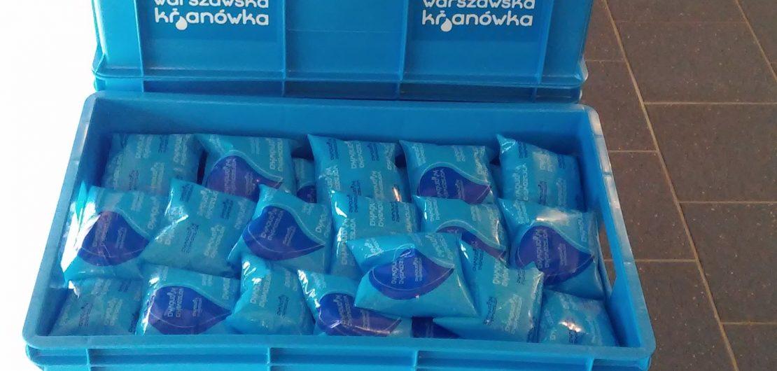 Maj 2016 r. – pakowanie wody dla Warszawy
