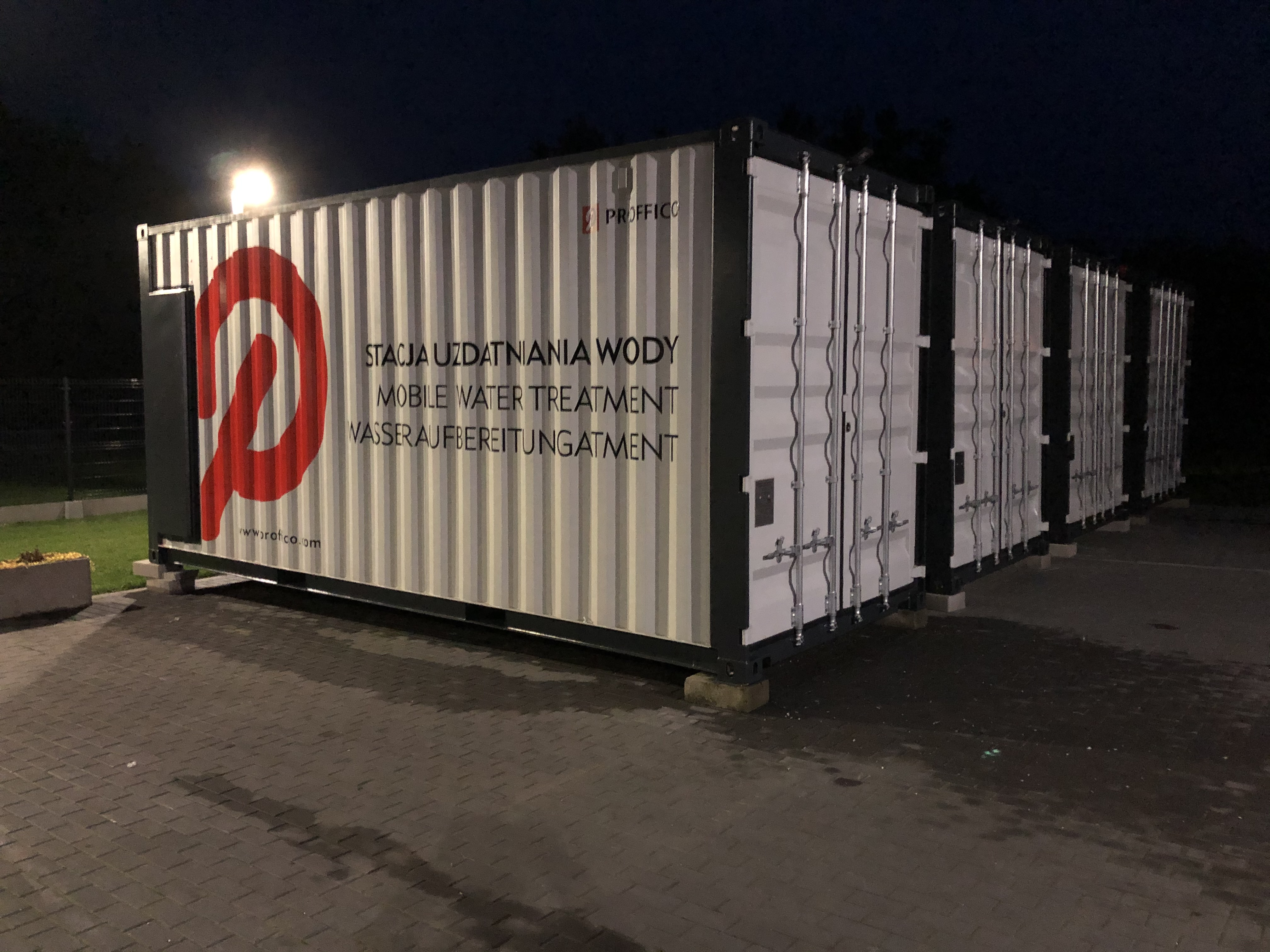 2020 listopad – Kontenerowa stacja uzdatniania wody – Manufactured by Proffico
